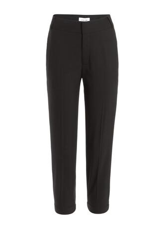 pants wool black