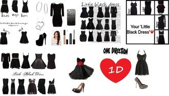 dress one direction little black dress black dress women shoes make-up jewels phone case