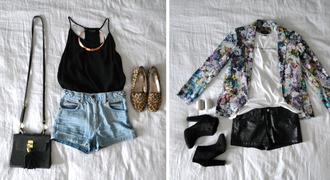 jacket blazer outfit spring outfits leather shorts black booties floral blazer cheetah shoes leopard print floral leather handbag black bag bag shoulder bag necklace gold necklace statement necklace choker necklace gold choker high waisted shorts blue shorts black shorts black tank top tank top shorts one shoulder handbags high waisted denim shorts jewels tasel handbag with tasel