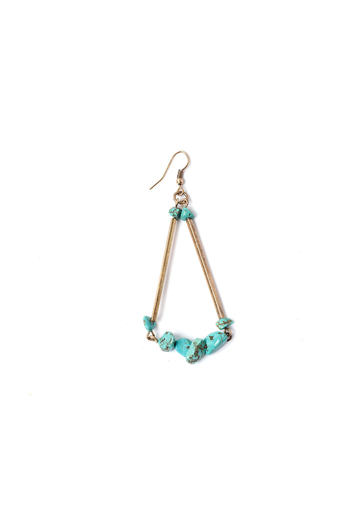 Turquoise Pebble Earrings