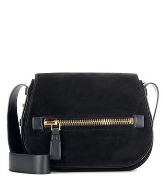 soft bag shoulder bag suede black