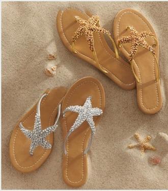 shoes stars see flip flops