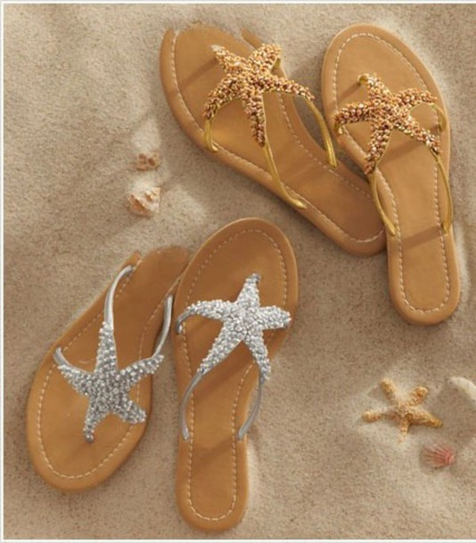 shoes stars see flip-flops