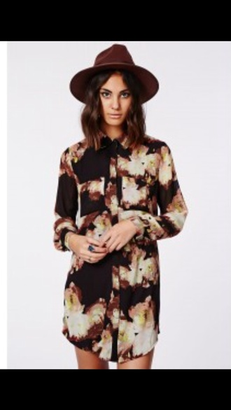brown shirt blouse winter/autumn fashion