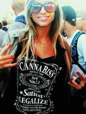 shirt,weed shirt,hipster,tank top,weed,420,smoke,jack daniel's,legal,t-shirt,jack,daniels,marihuana,legalize,cannabis clothing,jack daniels shirt,girl,festival,jack daniel's tank top,black,marijuana,thc,black t-shirt