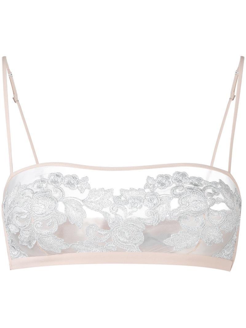 La Perla 'Moonlight' bandeau bra, Women's, Size: 34B, Nude/Neutrals, Silk/Nylon/Polyester/Spandex/Elastane