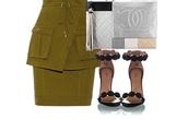 skirt,army green,tie-front skirt,layered skirt,feminine,trendy,casual