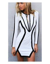 transparent,party,dress,new year's eve,christmas,black and white,black and white dress,black prom dress,white dress,bodycon dress,long sleeve dress,party dress,evening dress,wow,clubwear