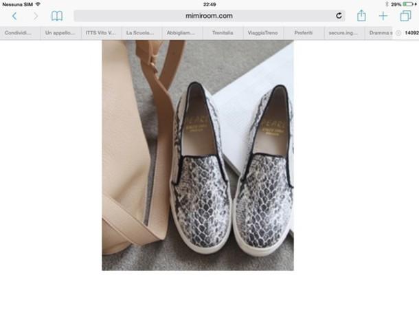 shoes slip on shoes snake skin