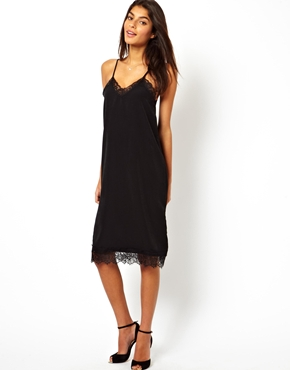 Oh My Love | Oh My Love Cami Midi Dress with Eye Lash Lace at ASOS