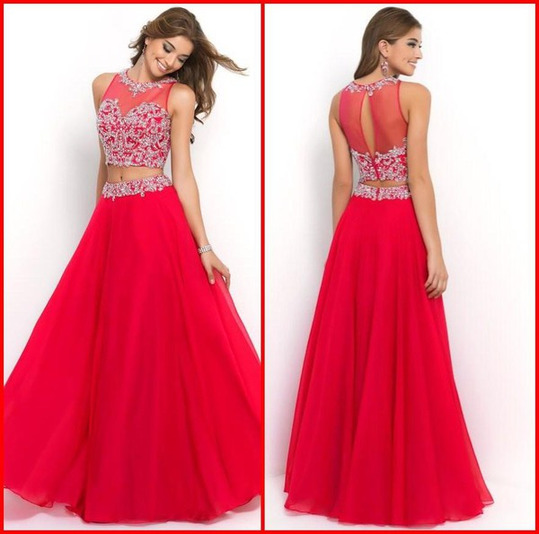 two-piece prom dress 2014 prom dress 2015 prom dress evening dress evening dress two piece evening dress two pcs dress red prom dress two-piece red dress two piece dress set beautiful red dress