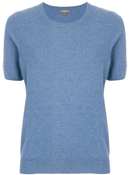 N.Peal t-shirt shirt t-shirt women blue top