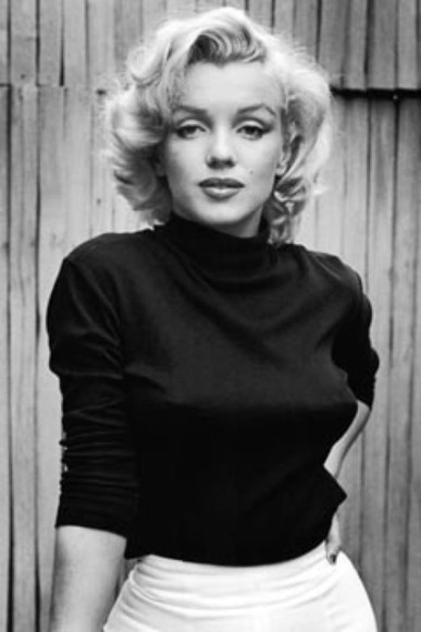marilyn monroe black blouse