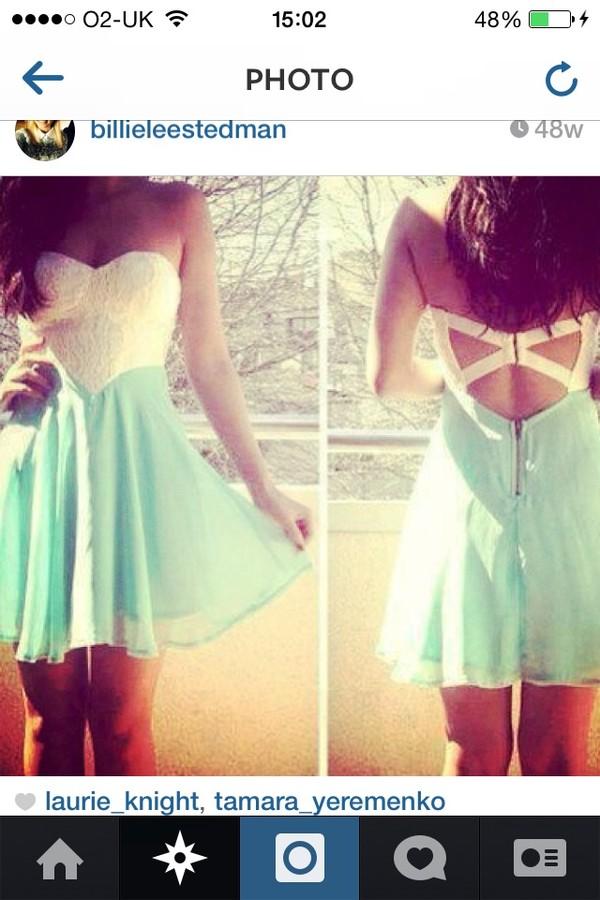 dress white lace dress blue and white dress