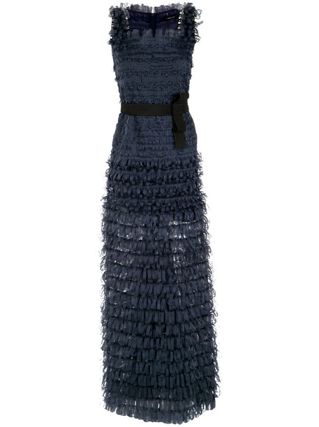 Gloria Coelho gown women blue dress