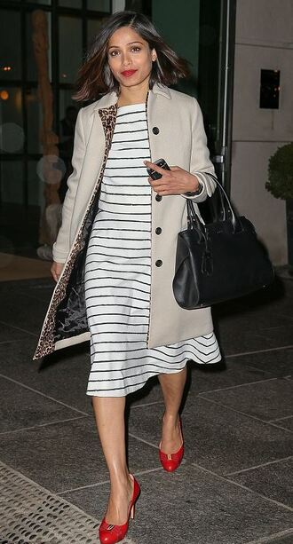 skirt top midi skirt stripes freida pinto