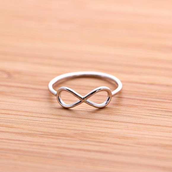 gift jewels infinity ring silver jewelry bridesmaids