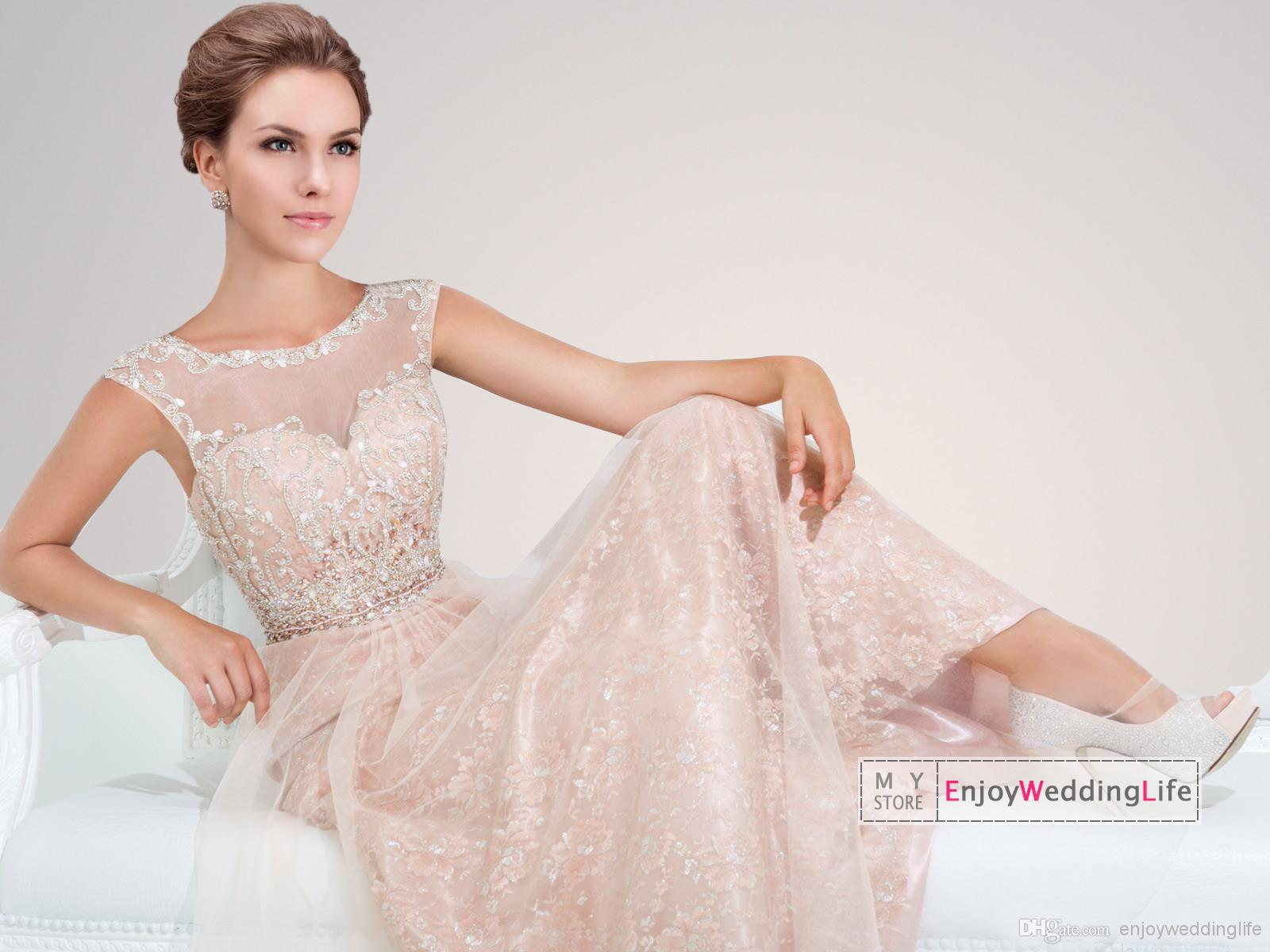 Cheap Celebrity Dresses - Discount Lace Floor Length Prom Dresses Beaded Top Organza Online with $128.46/Piece | DHgate