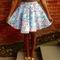 Blue floral full circle skirt