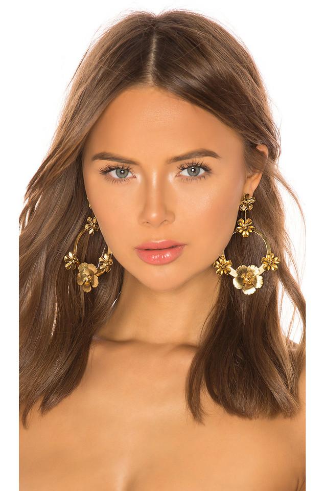 Jennifer Behr Freya Hoop Earrings in gold / metallic
