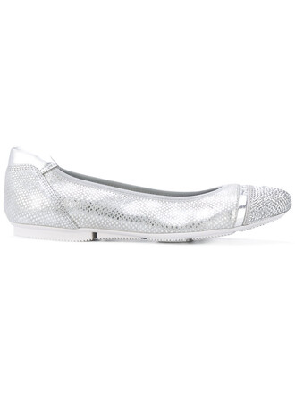 women leather grey shoes