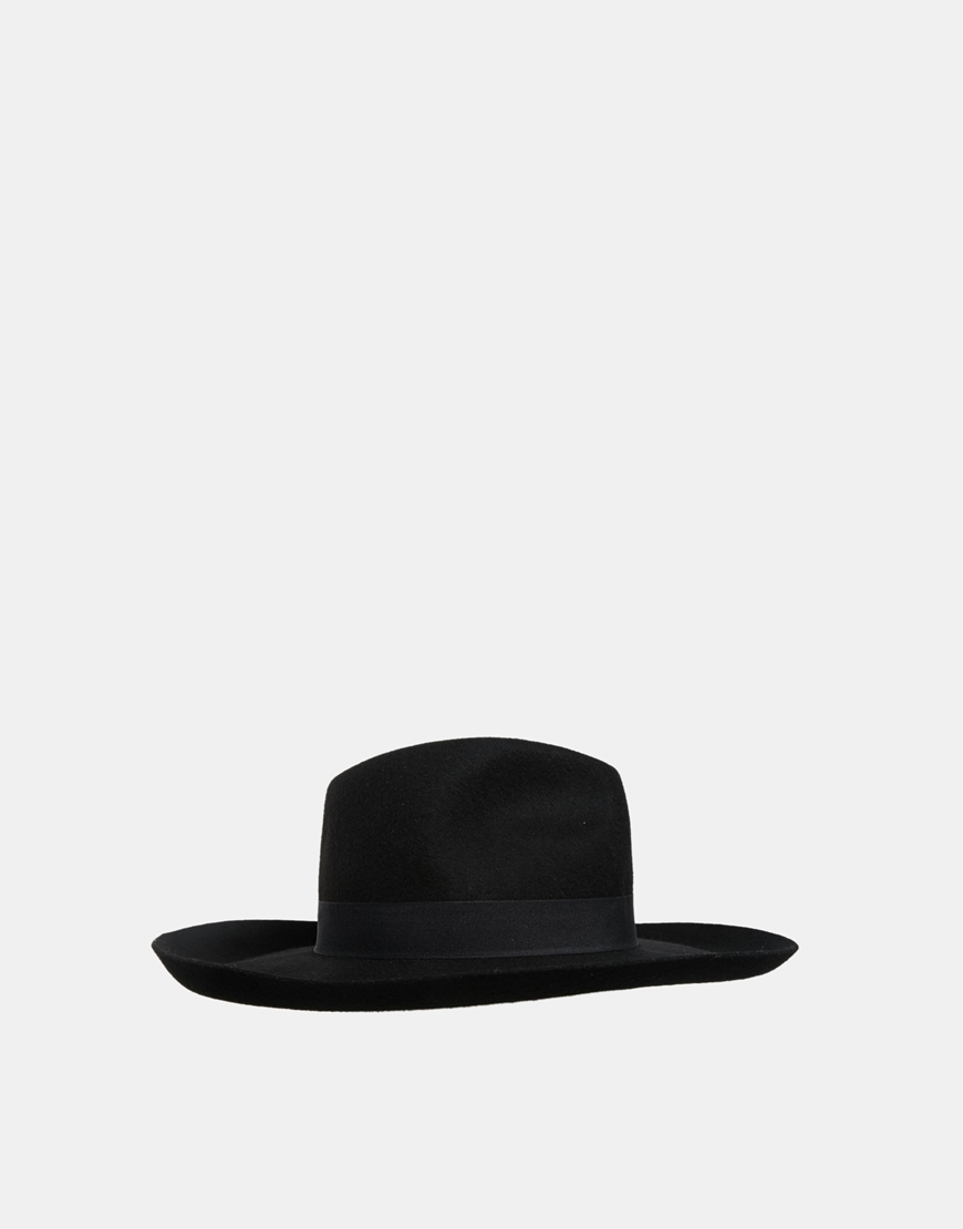 ASOS Wide Brim Stenson Felt Hat at asos.com