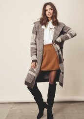 coat,coatigan,plaid coatigan,plaid coat,fall coat,knit coat,knit coatigan,boho coat,fall outfits,coat with pockets,wide lapel coat,wide lapel,lovestitch,boho coatigan,bohemian