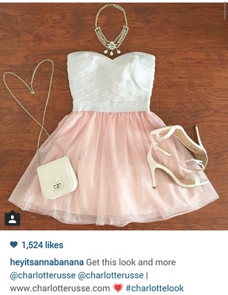 dress pink pink and white pink and white dress summer dress heels purse jewels