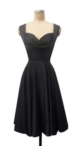 dress black 50s dress