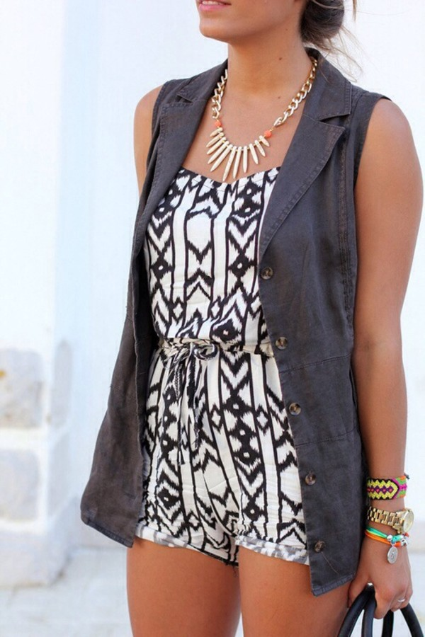 dress black and white b&w design tribal like