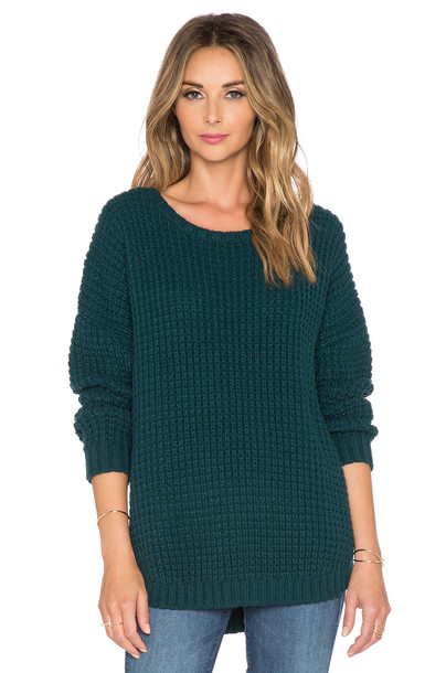 Knot Sisters sweater green