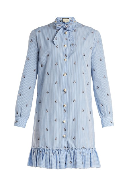 gucci dress bunny cotton blue