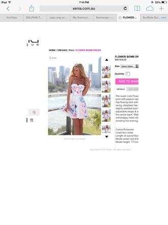 dress white strapless dresses floral dress skater dress