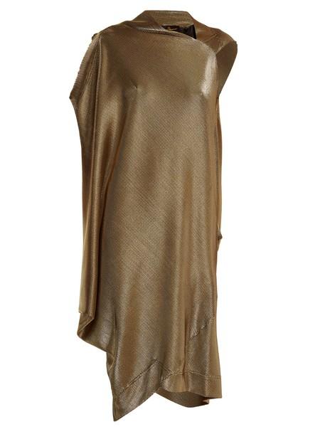 Vivienne Westwood Anglomania dress draped dress draped gold