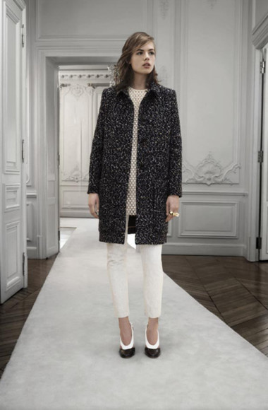 chloé fashion lookbook coat dress shoes