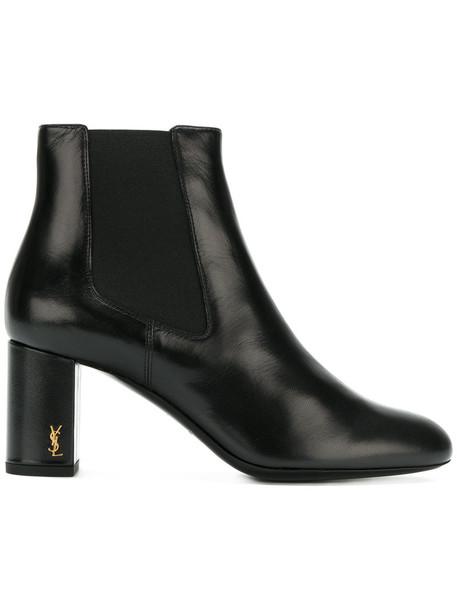 Saint Laurent women chelsea boots leather black shoes