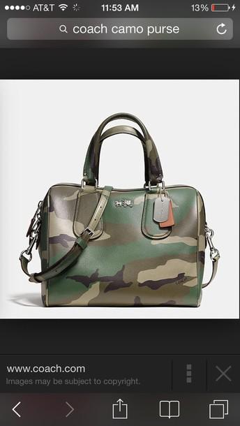bag coach camo leather