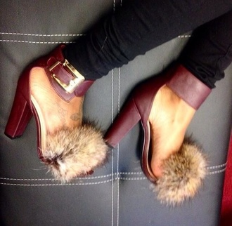 heels fur heels faux fur fall outfits burgundy open toes strappy heels shoes fur furry heels fur toe out heels shoe faux fur strappy heels fur sandals high heel sandals