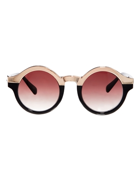 Minkpink | Minkpink Love Aesthetics Round Sunglasses at ASOS