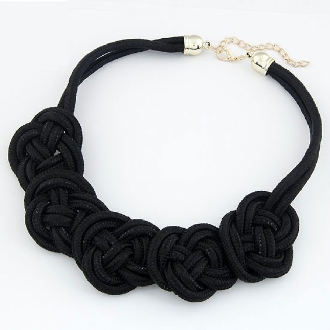 Bear Mojo - Malibu Extended Black Knot* Necklace | Make a Statement