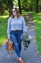 mommyinheels,blogger,top,jeans,shoes,sunglasses,bag,jacket