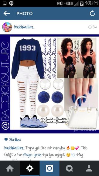 bag jeans 1993 outfit outfit idea baddiekouture_ blaaaze jewels