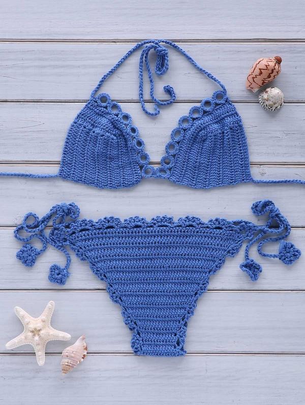 swimwear dressfo crochet blue style cute fashion boho boho chic summer