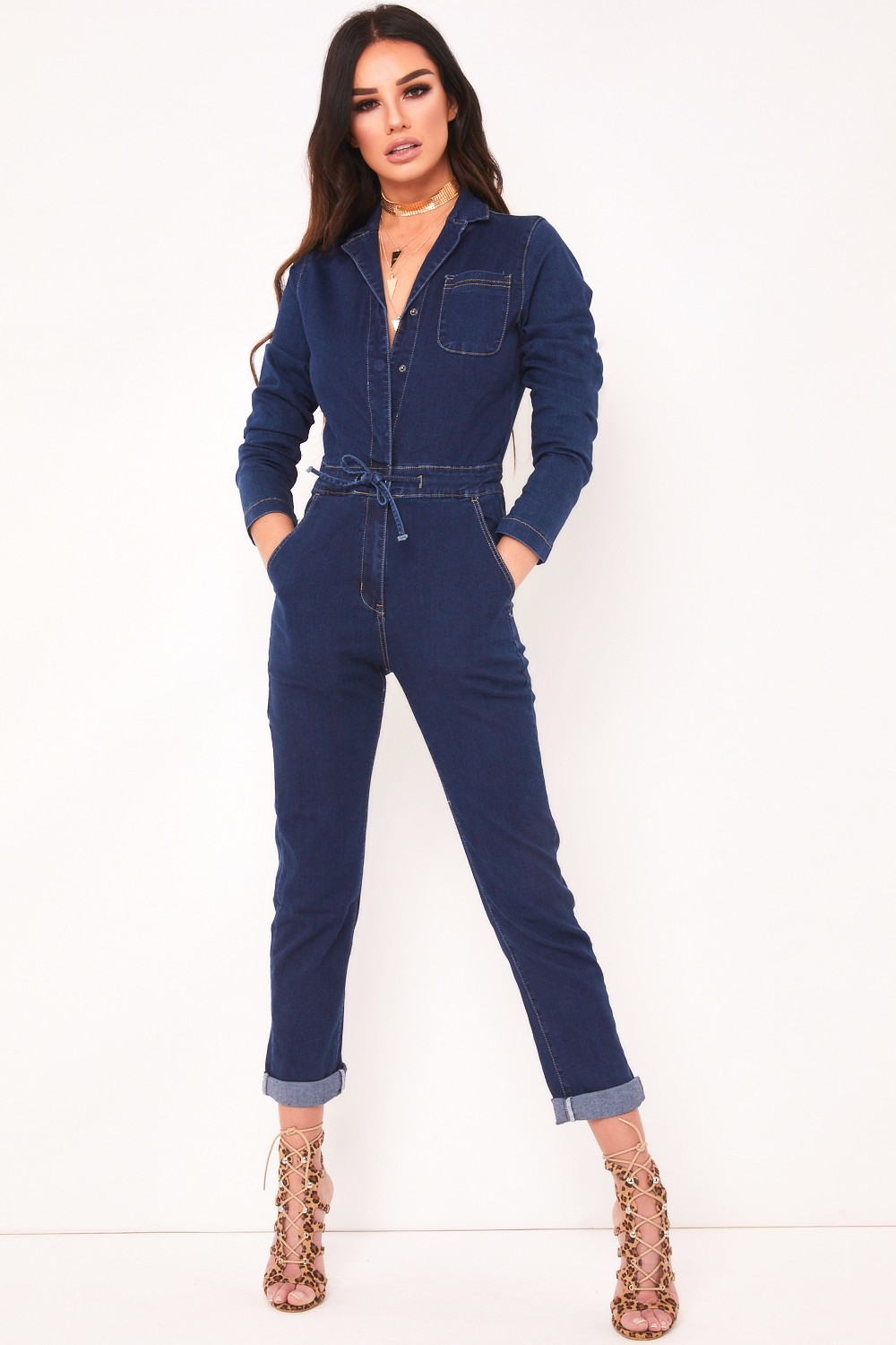 Carmen Blue Denim Jumpsuit
