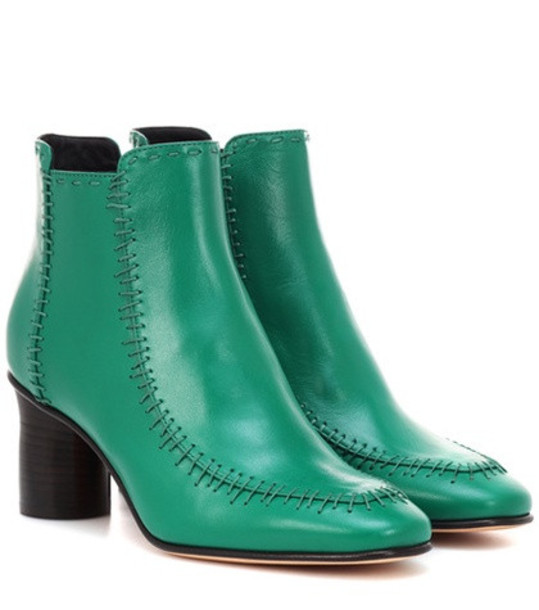 JW Anderson Leather ankle boots in green