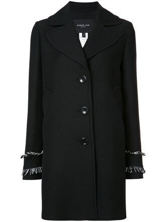 jacket women black silk wool