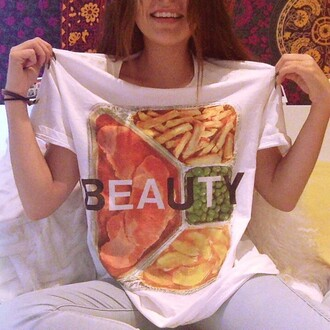 andrea russett graphic tee food t-shirt