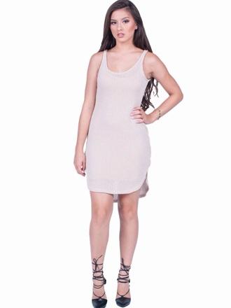 dress taupe dress knit dress