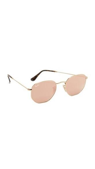 sunglasses mirrored sunglasses gold copper