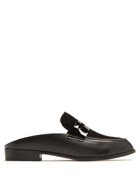 CLERGERIE loafers leather suede black shoes